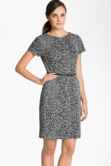 Calvin Klein Animal Print Ponte Knit Sheath Dress - Lyst