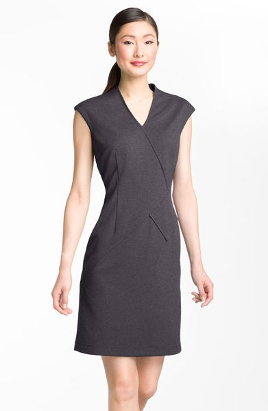 Galerry calvin klein sheath dress gray