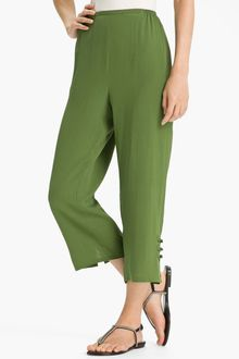 Citron Stretch Silk Crop Pants - Lyst