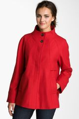 Ellen Tracy Stand Collar Aline Coat - Lyst