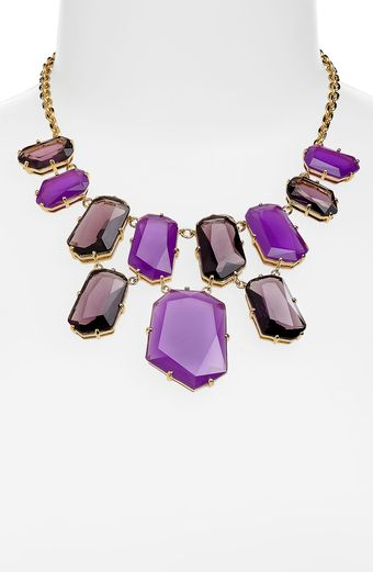 Kate Spade Colored Stone Bib Necklace - Lyst
