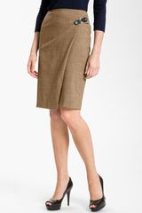 Lafayette 148 New York Faux Wrap Skirt - Lyst