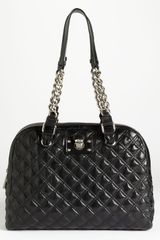 Marc Jacobs Karlie Leather Shoulder Bag in Black - Lyst