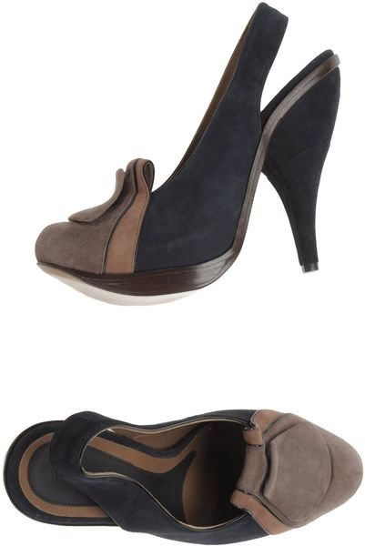 Marni Slingbacks in Black (blue) - Lyst