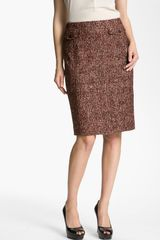 Nordstrom Collection Cambon Tweed Pencil Skirt - Lyst
