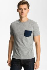 Rag & Bone Pocket Crewneck Tshirt in Gray for Men (medium grey) - Lyst
