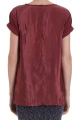 Rag & Bone Short Sleeve Pocket Tee in Purple (wine) - Lyst