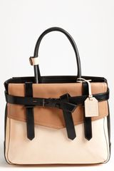 Reed Krakoff Boxer Tricolor Leather Satchel in Brown (natural/ black) - Lyst