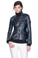 Tory Burch Shrunken Sgt Pepper Leather Jacket - Lyst