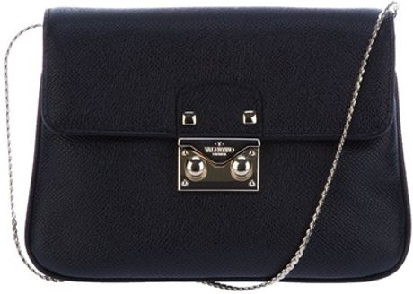 Valentino Small Leather Shoulder Bag in Black - Lyst