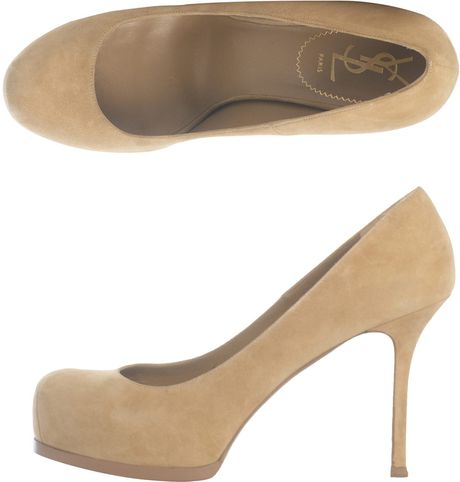 Yves Saint Laurent Tribtoo Pumps in Beige (nude) - Lyst