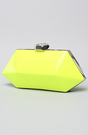 Betsey Johnson Neon Clutch in Yellow - Lyst