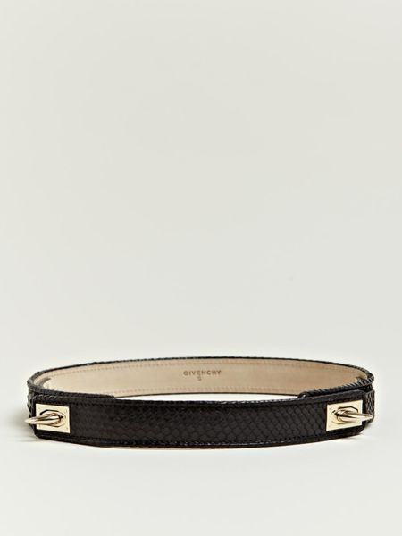 Givenchy Givenchy Womens Python Leather Waist Belt in Black - Lyst