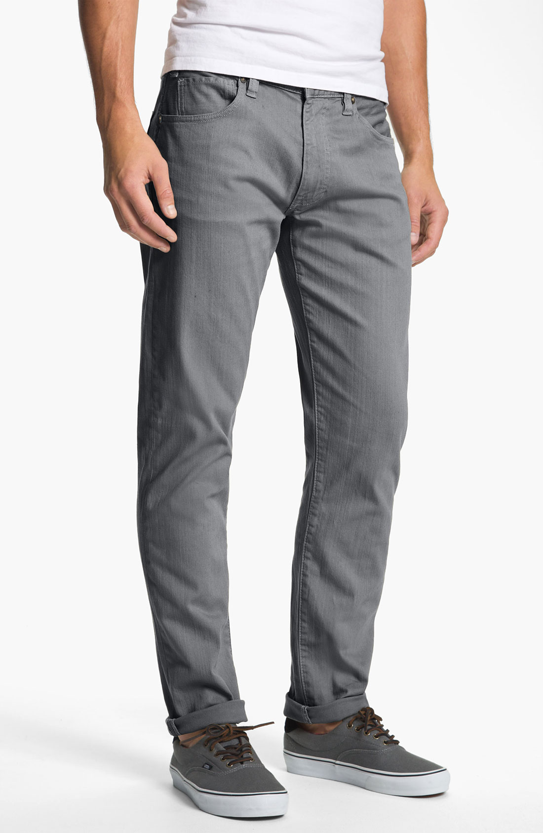 gray twill pants - Pi Pants