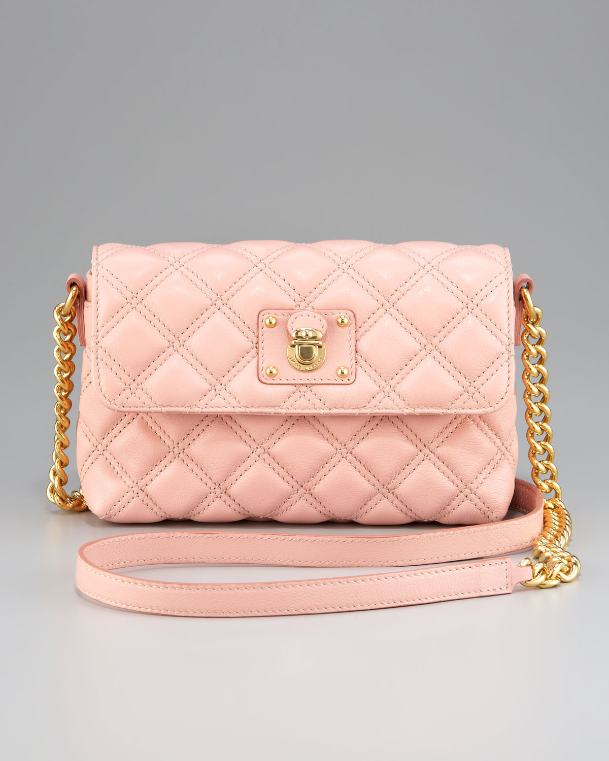 Marc jacobs Small Single Quilted Bag in Pink   Lyst : marc jacobs single quilted bag - Adamdwight.com