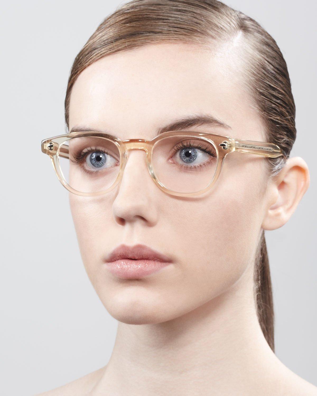 Oliver Peoples Sheldrake Fashion Glasses Buff in Beige ...
