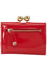 Ted Baker Shyla Crystal Small Flapover Purse in Red - Lyst