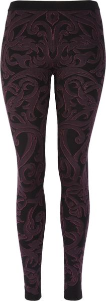 Alexander Mcqueen Jacquard Knitted Leggings in Black