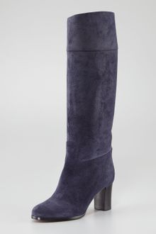 Christian Louboutin Dartata Suede Knee Boot - Lyst