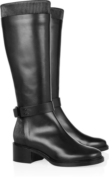Givenchy Leather Riding Boots in Black - Lyst