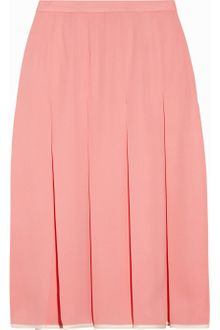 Jill Stuart Gabriella Pleated Silk Crepe Skirt - Lyst