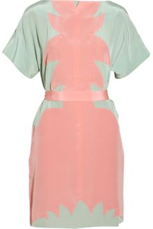 Jill Stuart Adrian Paneled Silk Dress - Lyst