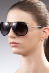 Jimmy Choo Terrence Aviator Sunglasses Black - Lyst