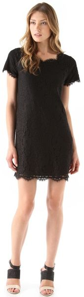 Joie Susina Lace Dress in Black - Lyst