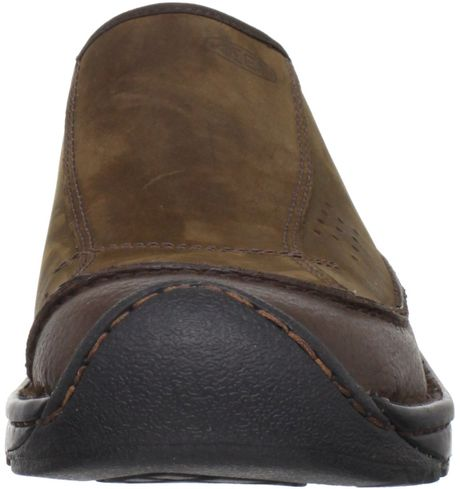 Keen Mens Dillon Clog Shoe In Brown For Men Slate Black