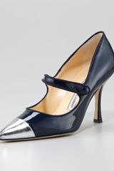 Manolo Blahnik Camparicap Mary Jane Pump - Lyst
