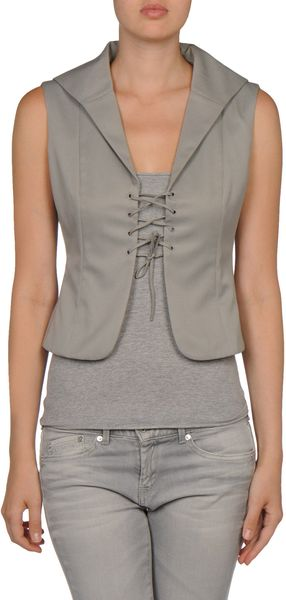 Miu Miu Blazer in Gray (grey) - Lyst