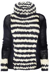 Nina Ricci Knitted Wool and Cashmereblend Sweater - Lyst