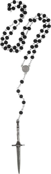 Pamela Love Silverplated Dagger and Resin Necklace in Silver - Lyst