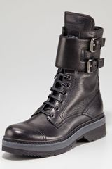 Prada Motorcycle Boot - Lyst