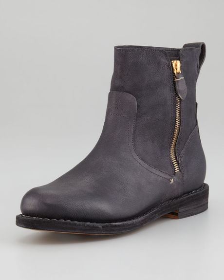 Rag & Bone Astor Motorcycle Boot in Gray (black) - Lyst