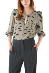 Sonia Rykiel Shadow Dot Key Hold Blouse - Lyst
