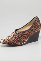 Taryn Rose Leopardprint Stretch Envelope Wedge - Lyst