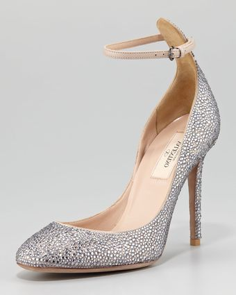 Valentino Crystalcovered Tango Stiletto Pump - Lyst