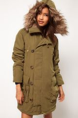 ASOS Collection Asos Button Front Parka - Lyst