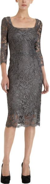 Dolce & Gabbana Lace Overlay Sheath Dress - Lyst