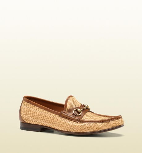 Gucci Horsebit Moccasin in Beige for Men (natural) - Lyst