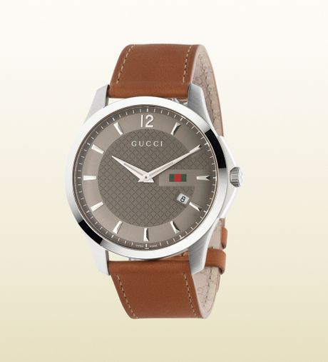 Gucci Gtimeless Collection Slim Version in Brown for Men (steel) - Lyst