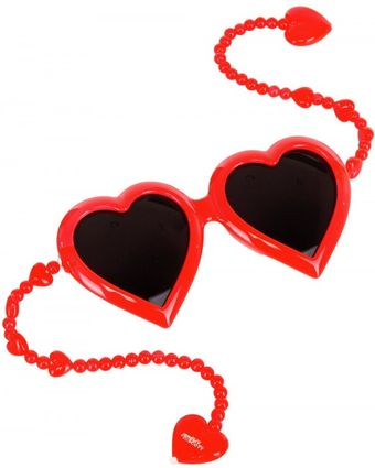 Jeremy Scott Heart Sunglasses - Lyst