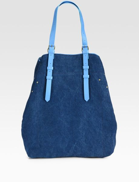 Jérôme Dreyfuss Mouss Canvas Tote in Blue (sky) - Lyst