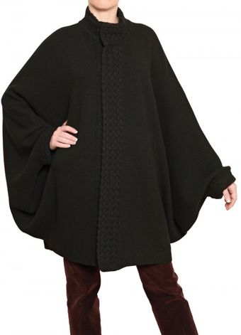 Laura G Knitted Cape - Lyst