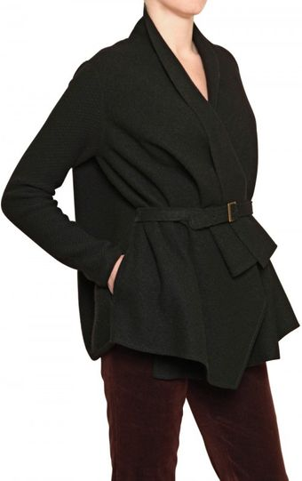 Laura G Wool Cloth Wrap Jacket - Lyst