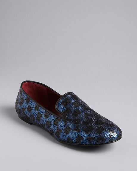 Marc By Marc Jacobs Smoking Flats in Blue (black navy) - Lyst