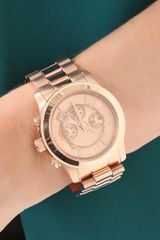 Michael Kors Oversized Rose Gold Watch in Pink (rose) - Lyst