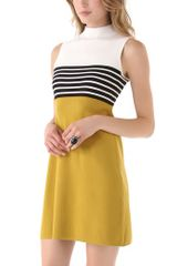 Milly Rita Sweater Dress in Yellow (gold) - Lyst