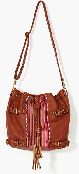Nasty Gal Puebla Bucket Bag in Brown - Lyst